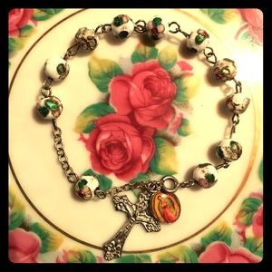 Jewelry - Vintage Cloisonné Prayer Beads Rosary Bracelet